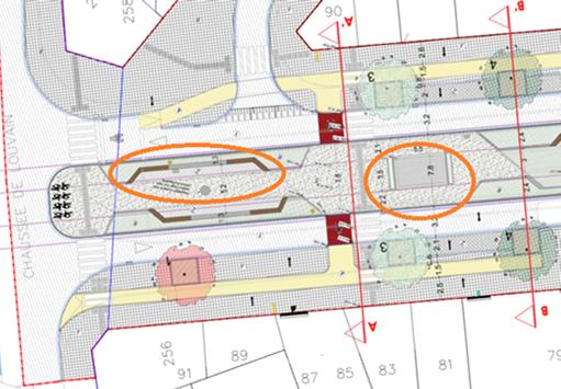 Détail du plan de réaménagement du boulevard Clovis